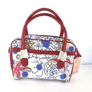 Bernie Dexter Starfish Print handbag Purse NWT